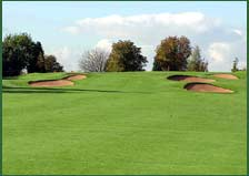 Bunkers at Filton Golf Club,  Filton, Bristol, England. Photo by Adrian Pingstone, June 2004