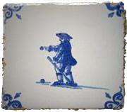 """Delft-style Tile illusrating """"Kolven"""""""